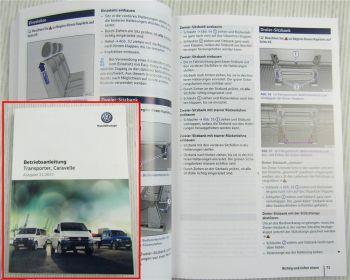 VW Transporter Caravelle Bedienung Betriebsanleitung von 11/2017