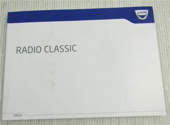 Dacia Radio Classic Bedienung Betriebsanleitung Handleiding mode demploi 2013
