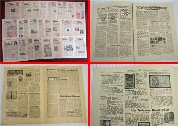Philatelie - Briefmarken sammler express Fachzeitschriften kompletter Satz 1951
