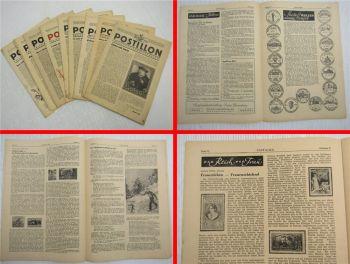 9x POSTILLON Philatelistisches Fachblatt Fachzeitschriften von 1947 Briefmarken