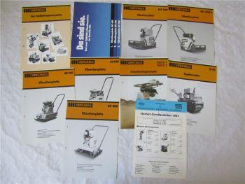 10 Prospekte Vibromax Vibrationsplatten Walzen Stampfer Verdichter 1980er