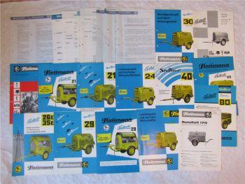 15 Prospekte Flottmann Kompressoren und Lieferprogramm von ca 1969