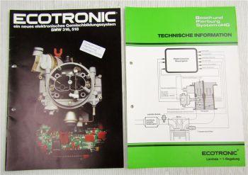 Pierburg Ecotronic 2B-E Vergaser BMW 316 518 Technische Information 1983