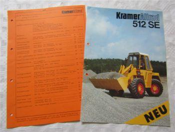 Prospekt Kramer Allrad 512SE Schaufellader 6/88 und Netto Händler Einkaufspreis