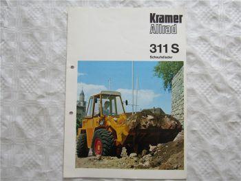 Prospekt Kramer Allrad 311S Schaufellader von 1977