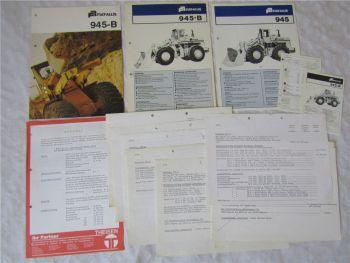 3 Prospekte Fiat Allis 945 B mit Angebot Preislisten und Datenblättern 70/80er