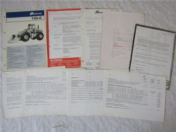 Prospekt Fiat Allis 745-C Radlader mit Preislisten und Angebot 70/80er Jahre
