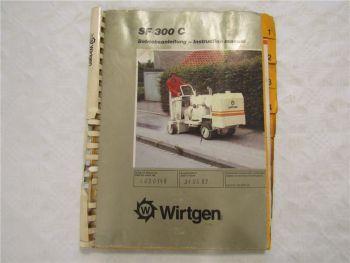 Wirtgen SF300C Bodenfräse Betriebsanleitung Bedienungsanleitung 5/1989