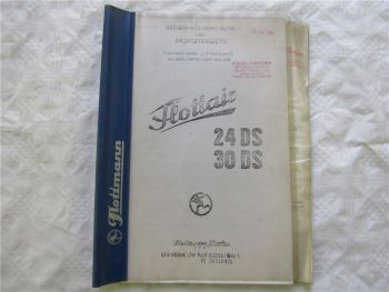 Flottair 24DS 30DS Kolbenkompressor Bedienungsanleitung Ersatzteilliste um 1978