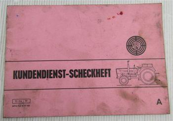 Steyr Traktor Typ 540 Kundendienstheft Checkheft Auslieferung Juli 1977