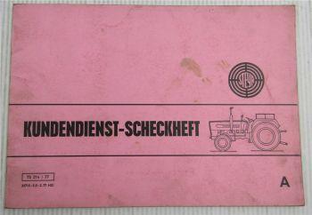 Steyr Traktor Typ 768 Kundendienstheft Scheckheft Auslieferung 1978