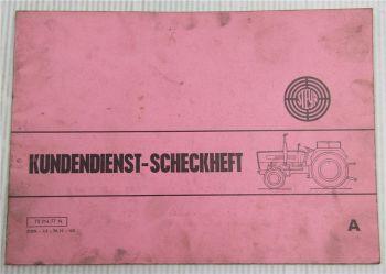 Steyr Traktor Typ 548 Kundendienstheft Scheckheft Auslieferung 1978