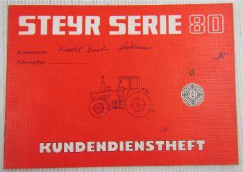 Steyr Traktor Typ 8055a Kundendienstheft Scheckheft Serie 80 Auslieferung 1983