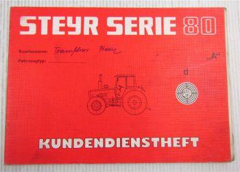 Steyr Traktor Typ 768 Kundendienstheft Scheckheft Auslieferung 1983
