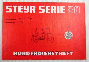 Steyr Traktor 8070 Kundendienstheft Scheckheft Serie 80 Auslieferung 1991