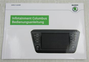 Skoda Infotainment Columbus Betriebsanleitung Bedienungsanleitung 3/2015