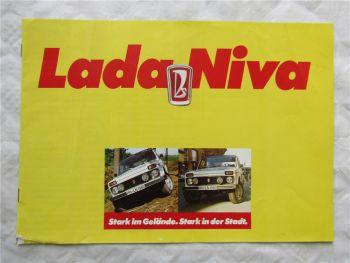 Prospekt Lada Niva Geländewagen von 9/1983 mit technischen Daten