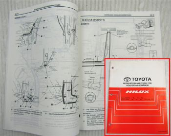 Toyota Hilux Werkstatthandbuch Karosserie ab 1997 Unfallschäden