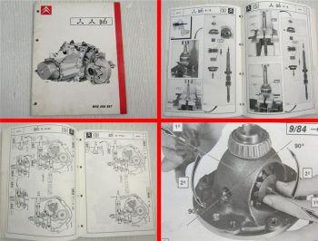 Werkstatthandbuch Citroen Visa BX XM Überholung Getriebe ME5T Reparaturanleitung
