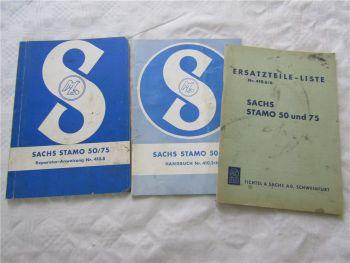 Sachs Stamo 50 75 Bedienungsanleitung Reparaturhandbuch Ersatzteilliste