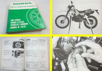 Honda MTX125R JD01 JD05 MTX200R MD07 Werkstatthandbuch 1983 - 1985 Shop Manual