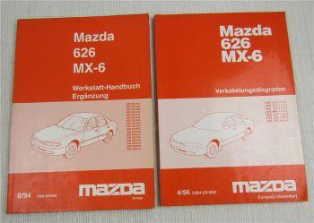 MAZDA 626 MX-6 GE Schaltpläne 1996 Werkstatthandbuch Nachtrag 1994