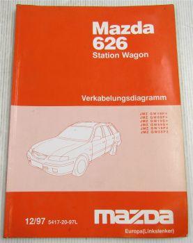Mazda 626 GW Kombi Schaltpläne Elektrik Schaltplan Werkstatthandbuch 12/97 1998