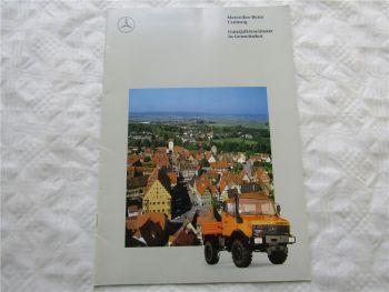 Prospekt Mercedes Benz Unimog Ganzjahreseinsatz in Gemeinden 1994