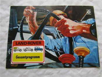 Prospekt Land Rover Typen 88 109 Station Wagon Gesamtprogramm von 9/1975