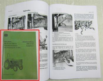 John Deere 820 1020 VU Betriebsanleitung Schmalspurtraktor