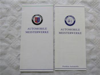 Prospekt BMW Alpina B3 B6 B10 B11 B12 von 91 Automobile Meisterwerke + Preise