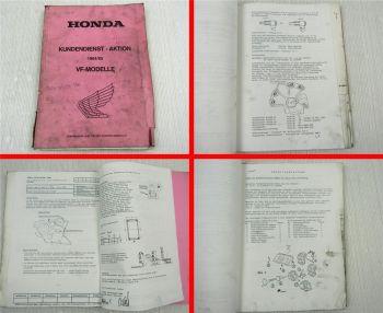 Honda VF 500 750 1000 FE f2E CC CD SC SD FD FE RE Kundendienst-Aktion 84/85