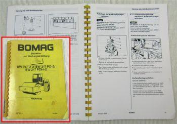Bomag BW217 D-2 PD-2 PDH-2 Betriebsanleitung Bedienung Wartung 3/93