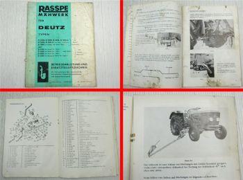 Rasspe Mähwerk Deutz D2506 3006 4004 5006 5005 2505 3005 4005 5005 Ersatzteillis