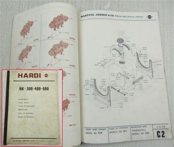Hardi NK 300 400 600 Spritze Parts List Pieces rechange Ersatzteilliste 1970er