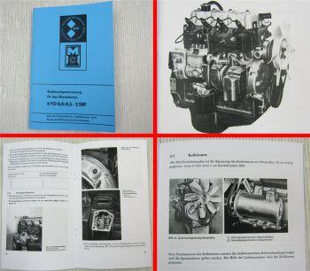 4VD 8,8 / 8,5-2 SRF Dieselmotor Betriebsanleitung 1982