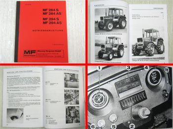 Massey Ferguson MF 284S 284AS 294S 294AS Bedienungsanleitung