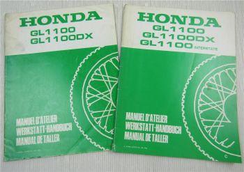 2x Ergänzung Nachtrag zum  Werkstatthandbuch Honda GL1100 DX Interstate 1981/82