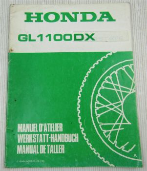 Ergänzung Nachtrag zum  Werkstatthandbuch Honda GL1100DX von 1980