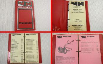Vogel & Noot Agrarprogramm Preisliste Landmaschinen 1. März 1988