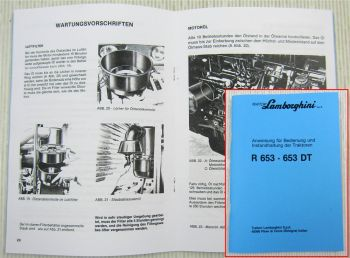Lamborghini R653 653 DT Traktor Betriebsanleitung