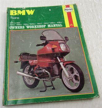 BMW Twins 1970 to 1985 R45 R50 R60 R65 R75 R80 R90 R100 Haynes