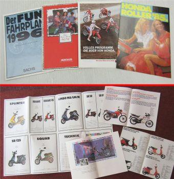 4 Prospekte Honda Sachs Hercules Mofas Mopeds Mokicks 80/90er Jahre