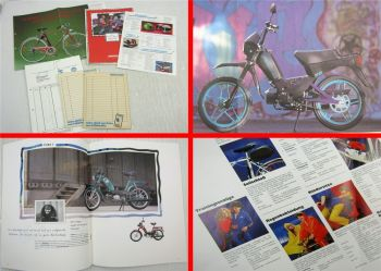 3 Prospekte Hercules Alassio Leichtlaufrad Mofas Mopeds Mokicks 1980/90er