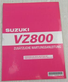 Suzuki VZ800 Marauder K9 Ergänzung Werkstatthandbuch Wartung Reparaturanleitung
