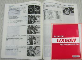 Suzuki UX50W Werkstatthandbuch Wartungsanleitung Reparaturanleitung von 1999