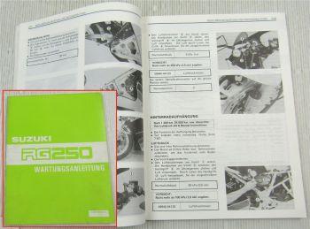 Suzuki RG250 Werkstatthandbuch Wartungsanleitung Reparaturanleitung von 1986