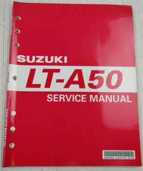 Suzuki LT-A50 Service Manual Reparaturanleitung in englisch edition 2001