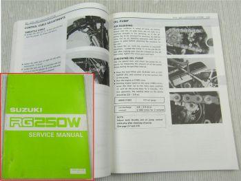 Suzuki RG250W Service Manual Reparaturanleitung in englisch edition 1983-1984