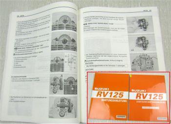 Suzuki RV125 Werkstatthandbuch Wartung Reparaturanleitung 2003 + Ergänzung 2006